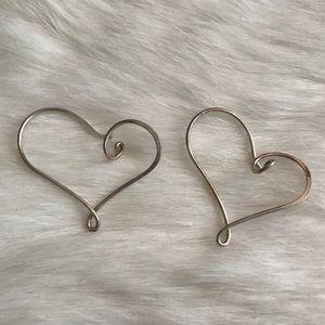 Jewelry - Silver Heart-Shaped Earrings